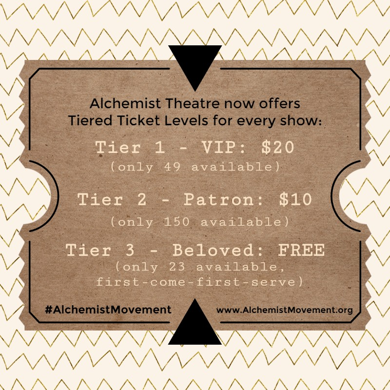 alchemist movement, alchemist theatre, reno, new age, new thought, homeslice productions, gospel
